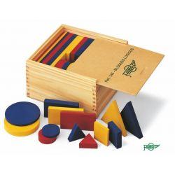 Bloques lógicos madera 40-80 mm. Caja 48 piezas