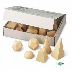 Cuerpos geométricos plástico opaco 50x50 mm. Caja 15 piezas
