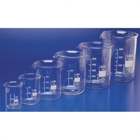Vaso precipitados vidrio borosilicato Kimax forma baja. Capacidad 400 ml
