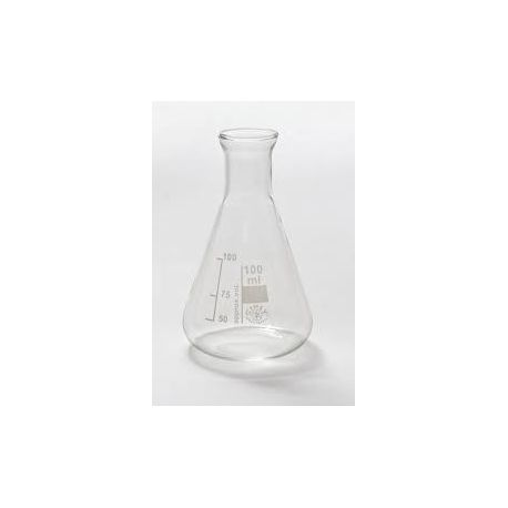 Matraz Erlenmeyer vidrio Simax. Capacidad 100 ml