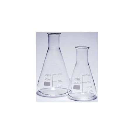 Matraz Erlenmeyer vidrio Pyrex. Capacidad 2000 ml