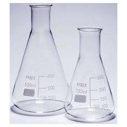 Matrassos Erlenmeyer vidre Pyrex 100 ml. Capsa 10 unitats