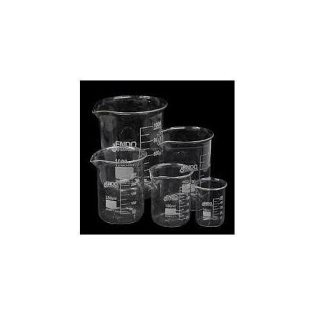 Vasos precipitados vidrio borosilicato Endo forma baja 50 ml. Caja 12 unidades