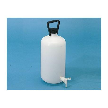 Bidón  plástico PEHD cilíndrico con grifo. Capacidad 5 litros
