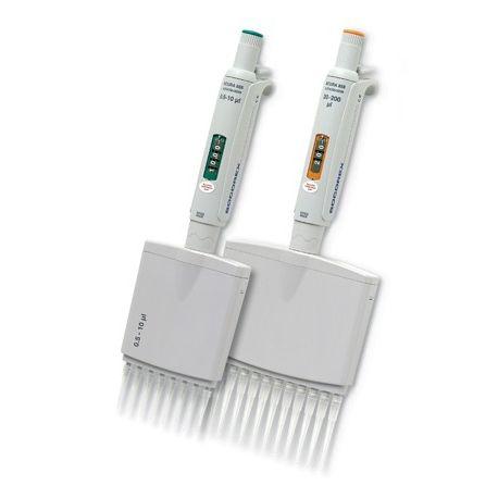 Pipeta automática multicanal 8 canales Socorex Acura. Volumen 40-350 ul