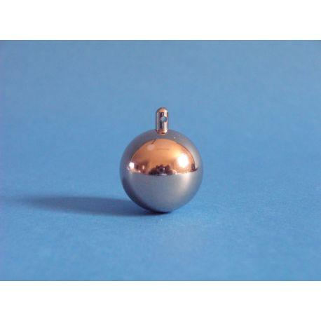 Bola pendular acer inoxidable amb ganxo. Diàmetre 25 mm