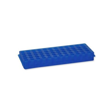 Gradilla microtubos plástico PP reversible 0'5 / 1'5 ml. Capacidad 60 unidades