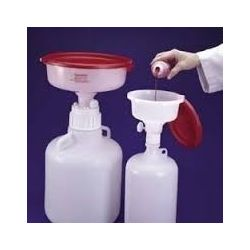 Contenidor seguretat residus químics amb embut. Capacitat 4