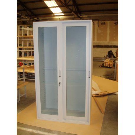 Armario laboratorio puertas metacrilato batientes. Medidas 1010x420x1980 mm