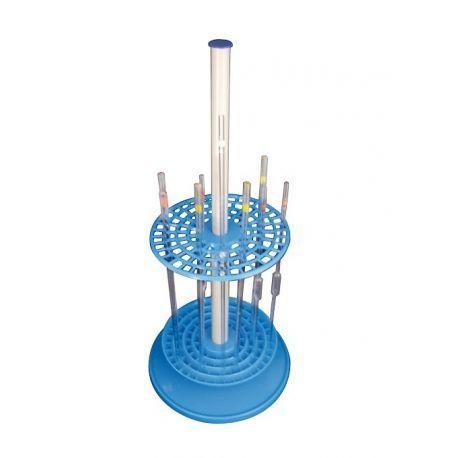 Soporte pipetas circular plástico PP. Capacidad 94 piezas