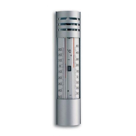 Termómetro máxima-mínima de líquido TFA-2007. Aluminio 50x220 mm