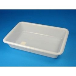 Cubeta dissecció plàstic 6 litres. Rectangular 395x265x80 mm