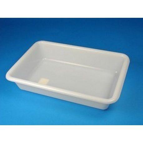 Cubeta disección plástico 6 litros. Rectangular 395x265x80 mm