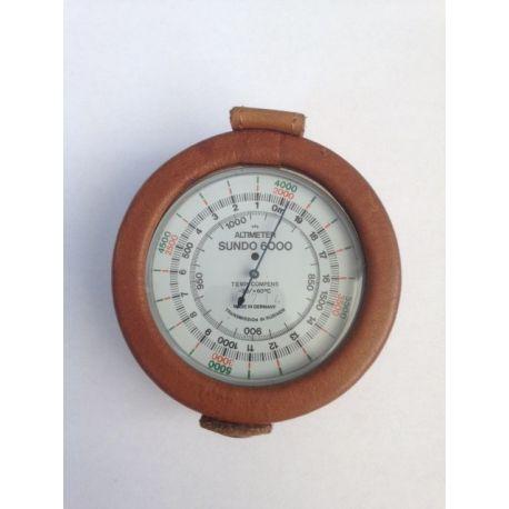 Altímetro analógico Sunder-6000. Escala 0-6000 m en 10 m