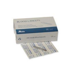 Lancetas acero inoxidable estériles. Caja 200 piezas