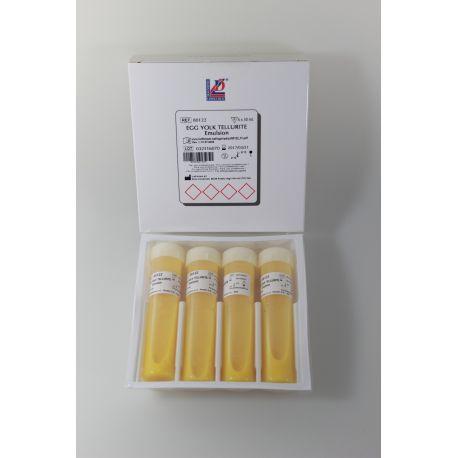 Emulsió rovell d'ou amb tel·lurit L-80122. Capsa 4x50 ml