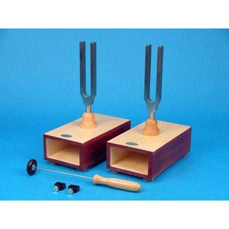 Diapasones con caja resonancia. Frecuencias 440 y 440 Hz con