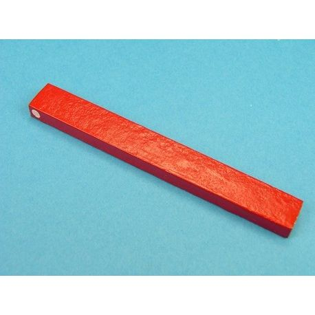 Imán alnico rectangular rojo V-15323. Medidas  6x12x105 mm.