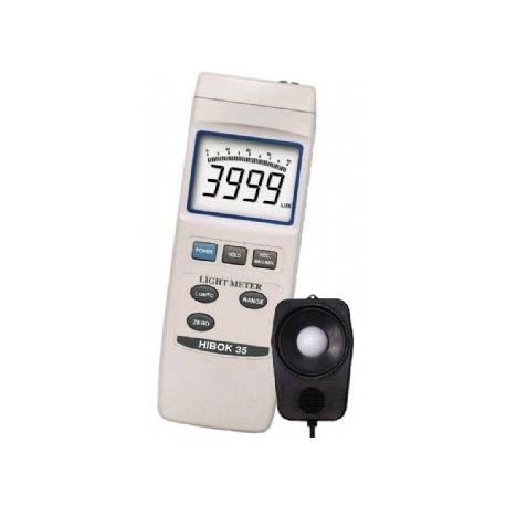 Luxómetro digital Hibok H-35. Escala 40-400-4000-40000-2000000 lux