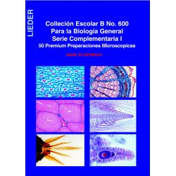 Preparaciones microscópicas Lieder. Biología general B. Caja 50