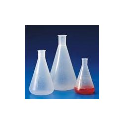 Matraz Erlenmeyer plástico PP graduado. Capacidad 500 ml