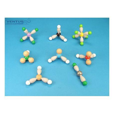 Modelos moleculares MOS-902-8. Moléculas, 8 modelos