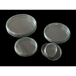 Cápsula Petri vidrio con tapa. Medidas 20x120 mm
