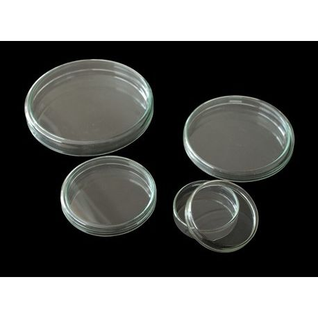 Cápsulas Petri vidrio con tapa 15x100 mm. Caja 18 unidades