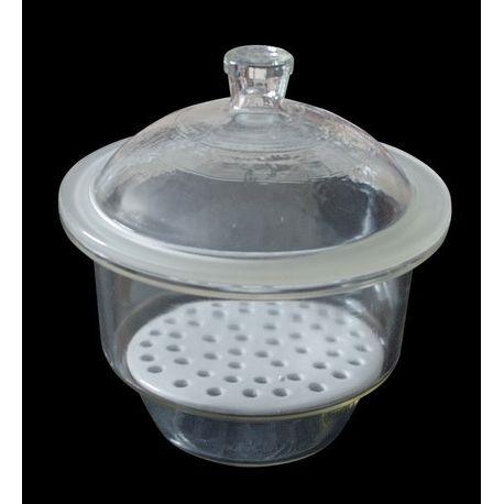 Dessecador vidre tapa pom amb placa. Diàmetre 250 mm (7 litres)