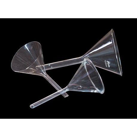 Embudo análisis vidrio forma alemana. Diámetro 75 mm