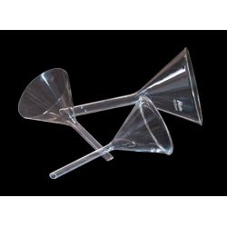 Embudos análisis vidrio forma alemana 60 mm. Caja 12 unidades