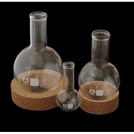 Matraz esférico vidrio fondo redondo. Capacidad 500 ml