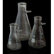 Matraz Kitasato vidrio con boca 38 mm. Capacidad 500 ml