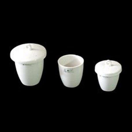 Crisol porcelana forma alta con tapa. Medidas 36x34 mm (18 ml)