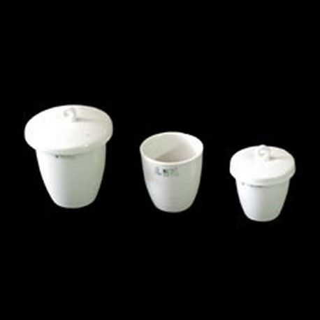 Crisoles porcelana forma alta con tapa 36x34 mm. Caja 10 unidades