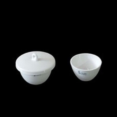 Crisoles porcelana forma baja con tapa 27x47 mm. Caja 10 unidades