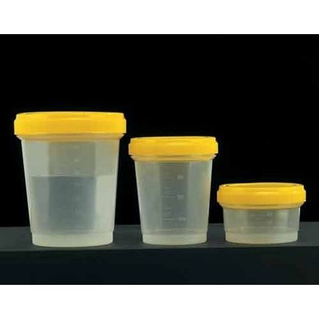 Pot plàstic PP-PE amb tapa rosca. Capacitat 120 ml