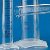 Probeta plástico PMP graduada 1/2. Capacidad 25 ml