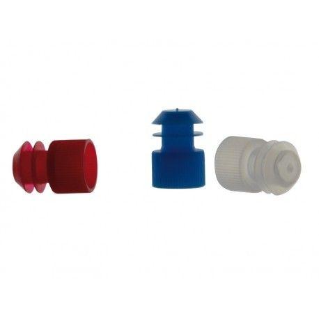 Tapones tubo ensayo plástico PE aletas 13 mm. Bolsa 1000 unidades