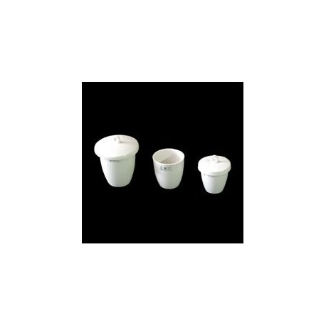 Crisoles porcelana forma alta con tapa 54x42 mm. Caja 10 unidades