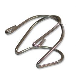 Clip subjecció unions esmerilades acer cromat. Unió 24/29