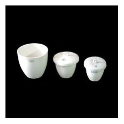 Crisoles porcelana forma media con tapa 36x40 mm. Caja 10 unidades