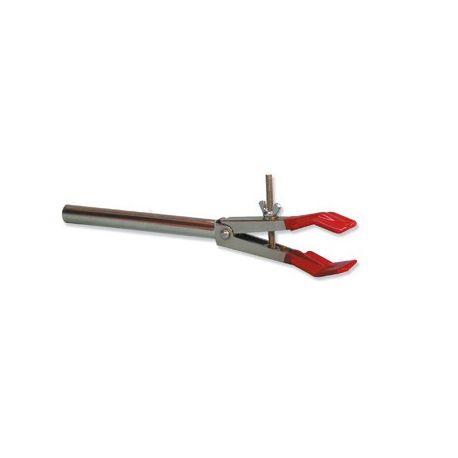 Pinza soporte palas lisas con espiga. Apertura 12 a 45 mm