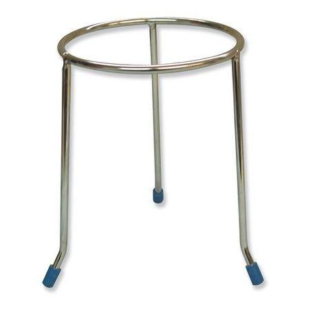 Soporte trípode acero cromado. Aro redondo 190x160 mm