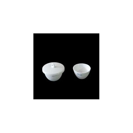 Crisol porcelana forma baja con tapa. Medidas 30x51 mm (30 ml)