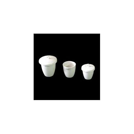 Crisol porcelana forma alta con tapa. Medidas 38x36 mm (20 ml)