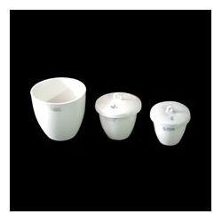 Crisol porcelana forma media con tapa. Medidas 36x40 mm (25 ml)