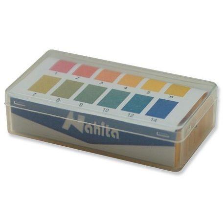 Papeles reactivos indicadores pH escala 1 a 14 (1 pH). Caja 200 tiras