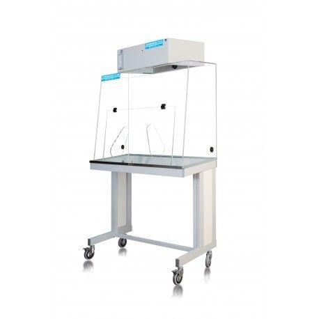 Tabla vitrina filtración molecular con ruedas CHS-090. Vitrina CSF-090