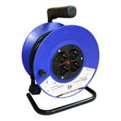 Alargador eléctrico 3x1'5 mm con 4 bases. Longitud 25 metros